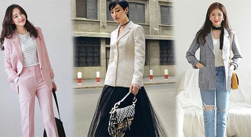 Học theo phong cách Hàn Quốc 5 kiểu phối blazer đẹp để thời trang văn phòng thôi nhàm chán