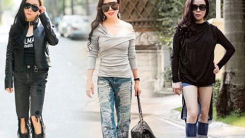 Bất chấp tuổi tác, Phượng Chanel vẫn mê diện mốt quần rách tả tơi