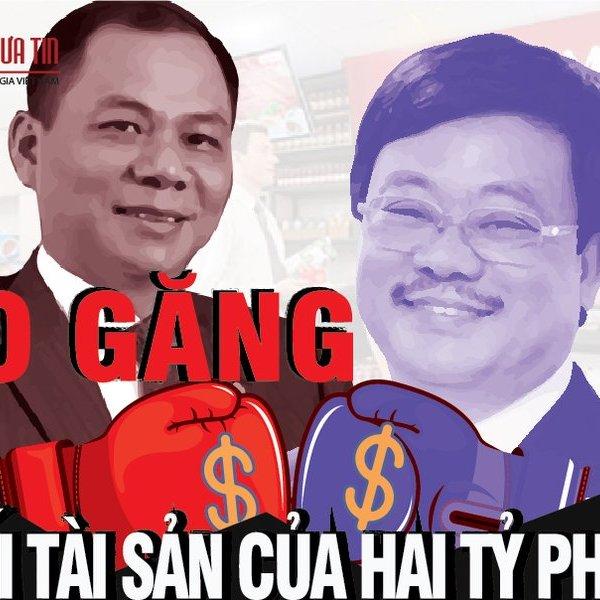 [Info] So găng khối tài sản của hai tỷ phú Vingroup Phạm Nhật Vượng và tỷ phú Masan Nguyễn Đăng Quang