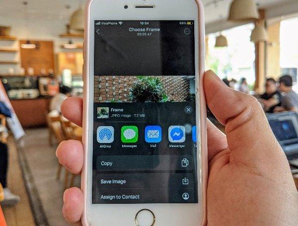 Cách trích xuất ảnh chất lượng cao từ video 4K trên iOS