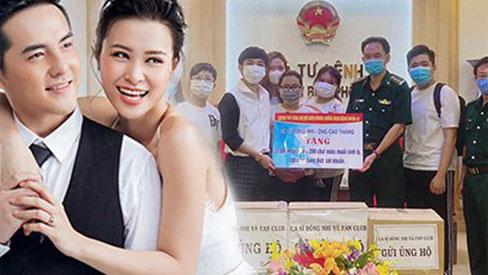 Vợ chồng Đông Nhi - Ông Cao Thắng trao tặng 35.000 khẩu trang, loạt vật dụng y tế phòng dịch Covid-19