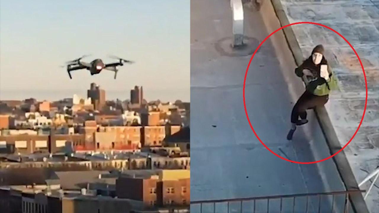 Chàng trai dùng drone làm quen với cô gái trong lúc ở nhà tránh dịch