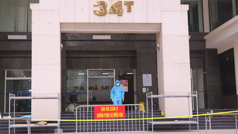 Hà Nội phong tỏa toà 34T Trung Hoà Nhân Chính vì có người dương tính SARS-Cov-2