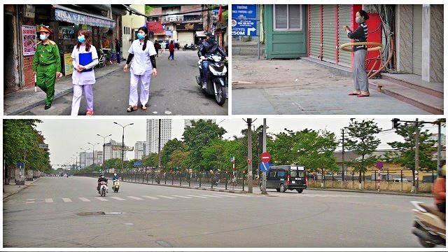 Buổi sáng 'cách ly xã hội' đầu tiên của Hà Nội