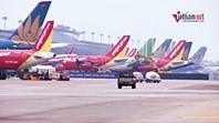 Cảnh rất khác ở Nội Bài: Trăm máy bay 'đắp chiếu', chen nhau nơi sân đỗ