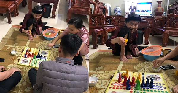 Nghỉ dịch ở nhà các cháu rủ bà nội 90 tuổi chơi cờ cá ngựa, ai ngờ gặp đúng