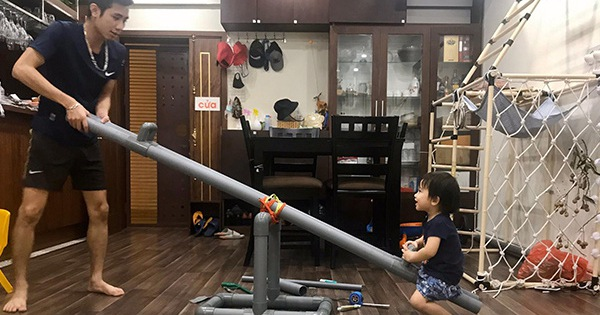 Dịch bệnh ở nhà không ra đường, mẹ Hà Nội biến chung cư thành khu giải trí cho con gái chơi miệt mài không chán