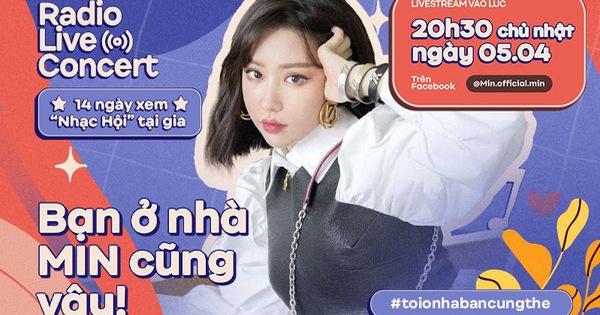 """Có Min chờ bạn tại Radio Live Concert, Min ở nhà làm gì cho hết ngày hay ai muốn """"bắt mạch"""" tư vấn mùa dịch thì mau mau đặt chỗ 20h30 tối nay!"""
