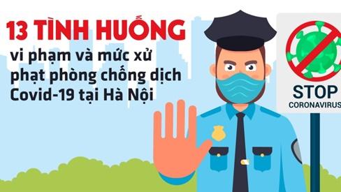 7 hành vi ở Hà Nội bị xử lý hình sự trong phòng chống dịch Covid-19