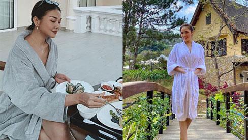 """Chỉ đơn giản là diện áo choàng tắm, mỹ nhân Việt - Hànsống ảo cực """"nghệ"""""""