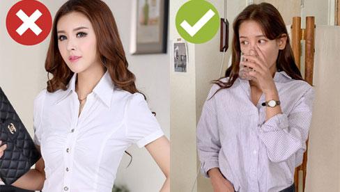Còn chứa chấp 4 kiểu áo sơ mi/blouse sau thì bạn còn mặc xấu, tất cả nên được dọn bớt cho đỡ chật tủ áo quần