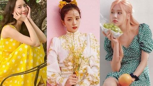 Nhìn loạt váy hoa xinh xắn của sao Hàn, bạn sẽ muốn sắm ngay và luôn item này