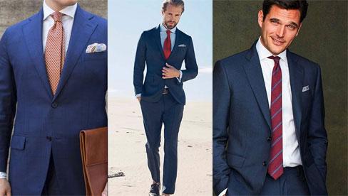 Quý ông nào cũng cần suit xanh và cách phối nó với đủ màu sơ mi, cà vạt