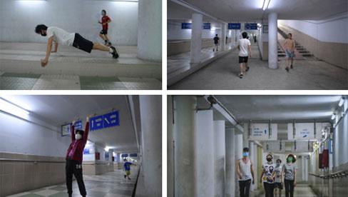 Người dân Hà Nội đổ xuống hầm đi bộ tập thể dục, lực lượng chức năng khản giọng thuyết phục mới chịu về nhà