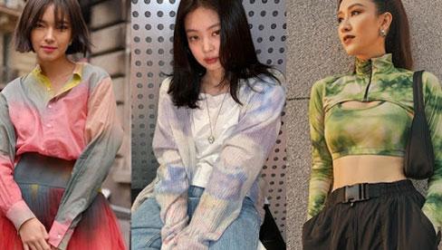 Từ Hàn đến Việt, các người đẹp đình đám đều đang đồng loạt lăng xê xu hướng loang màu