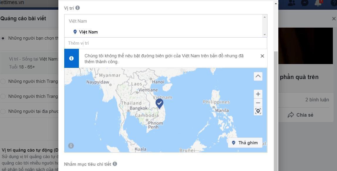 Facebook bỏ Trường Sa, Hoàng Sa khỏi bản đồ Việt Nam