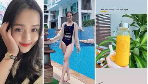 Học theo Hà Tăng, vợ Duy Mạnh uống nước nghệ dưỡng nhan, phải lưu ý điều này tránh hỏng gan