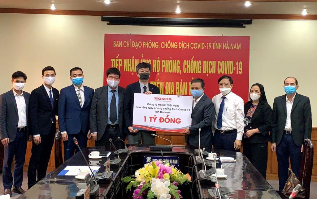 Honda Việt Nam hỗ trợ đẩy lùi dịch bệnh COVID-19 tại Hà Nam