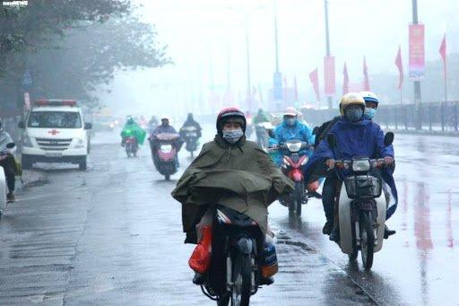 Không khí lạnh tiếp tục tăng cường, Hà Nội có mưa dông và rét đến hết tuần