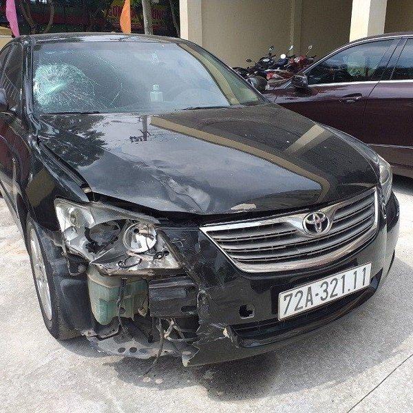 Tài xế lái Camry gây tai nạn ở Đà Nẵng rồi bỏ trốn vào Quảng Ngãi