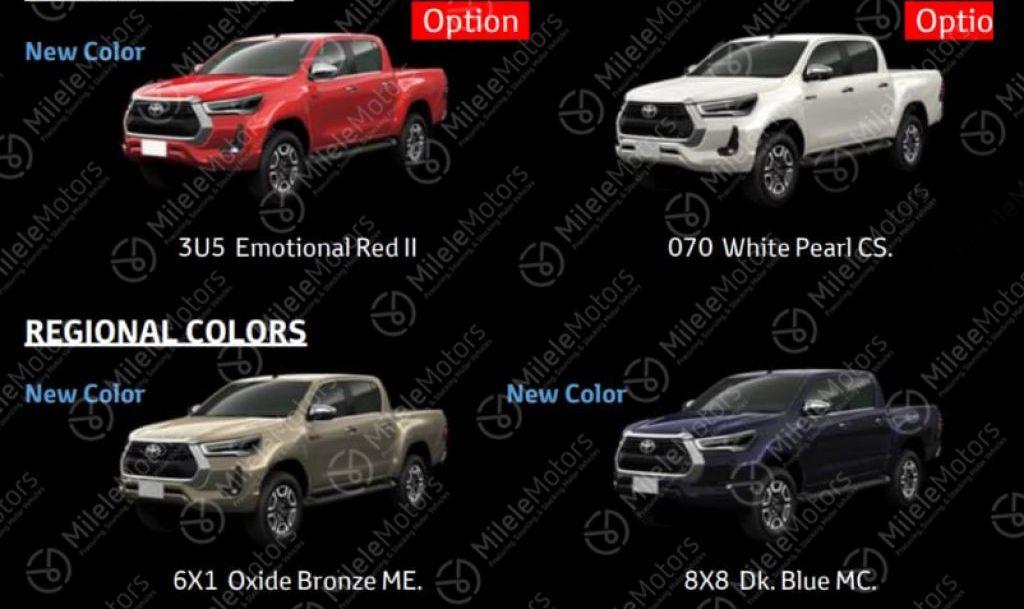 Toyota Hilux facelift 2021 hé lộ thiết kế ngoại thất các phiên bản