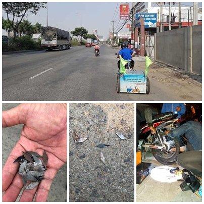 Lo ngại vấn nạn đinh tặc lộng hành trên các tuyến đường cửa ngõ vào TP.HCM