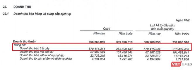 Doanh thu trái cây tăng mạnh, HNG đã có lãi trở lại-1