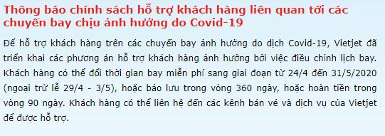 Sau văn bản của Cục Hàng không, Vietjet Air thông báo hoàn tiền trong vòng 90 ngày cho khách hàng có chuyến bay bị ảnh hưởng bởi Covid-19-1