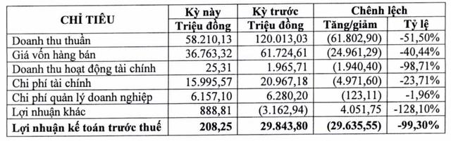 Phát triển Điện lực Việt Nam (VPD): Quý 1 lãi vỏn vẹn 166 triệu đồng, giảm 99% so với cùng kỳ                         -1