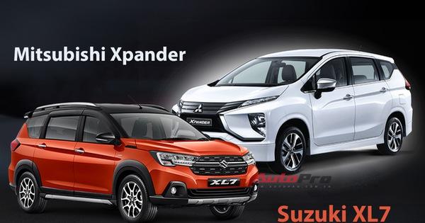 Suzuki XL7 so kè Mitsubishi Xpander - Xe 7 chỗ bình dân đua lấy lòng khách Việt bằng giá bán và trang bị