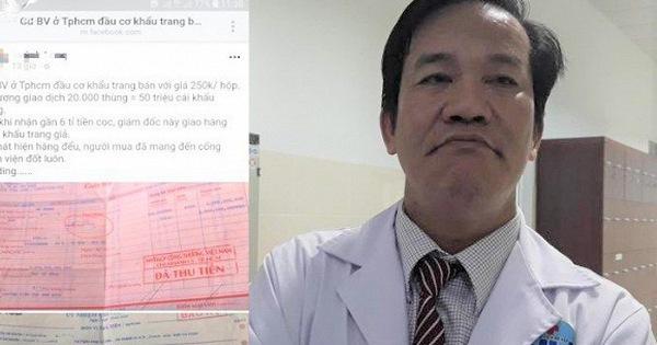 Không khởi tố Giám đốc Bệnh viện quận Gò Vấp bị tố thu gom khẩu trang bán kiếm lời