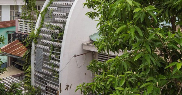 Ngôi nhà ống hẹp ở Sài Gòn với mặt tiền 'uốn cong' vô cùng ấn tượng