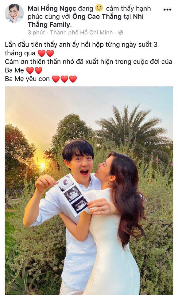 HOT: Đông Nhi chính thức xác nhận mang thai con đầu lòng sau 5 tháng kết hôn với Ông Cao Thắng-1