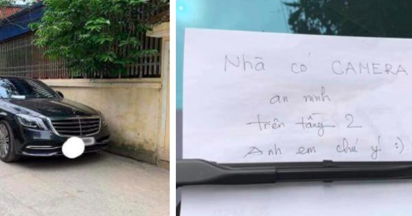 Đỗ xe Mercedes tiền tỷ bên đường, người chủ xe đã để lại mẩu giấy nhỏ để bảo vệ tài sản, đọc nội dung ai cũng thấy bất ngờ