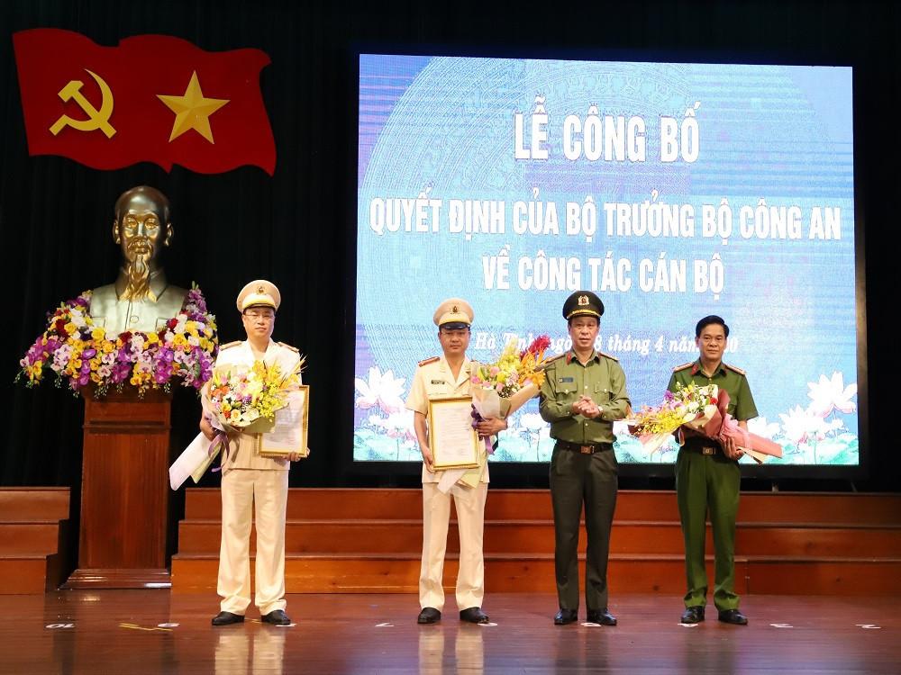 Bổ nhiệm 2 Phó giám đốc Công an Hà Tĩnh-1