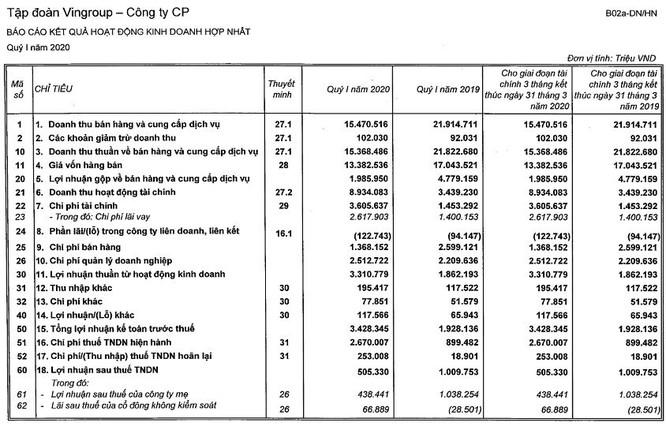 """Covid-19 ăn mất"""" một nửa lợi nhuận ròng của Vingroup-1"""