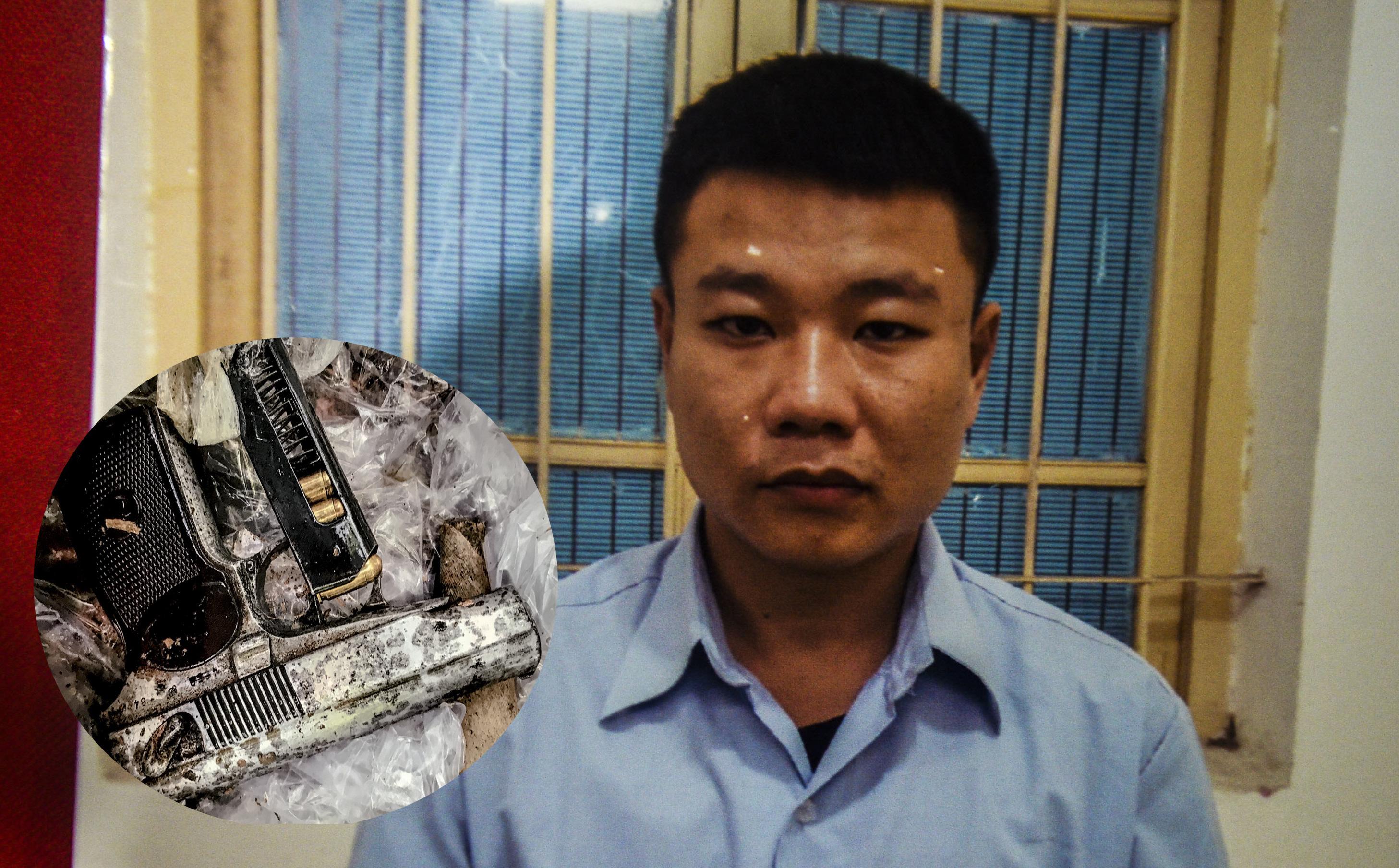 Kẻ nổ súng cướp ngân hàng ở Sóc Sơn khai báo quanh co về khẩu súng