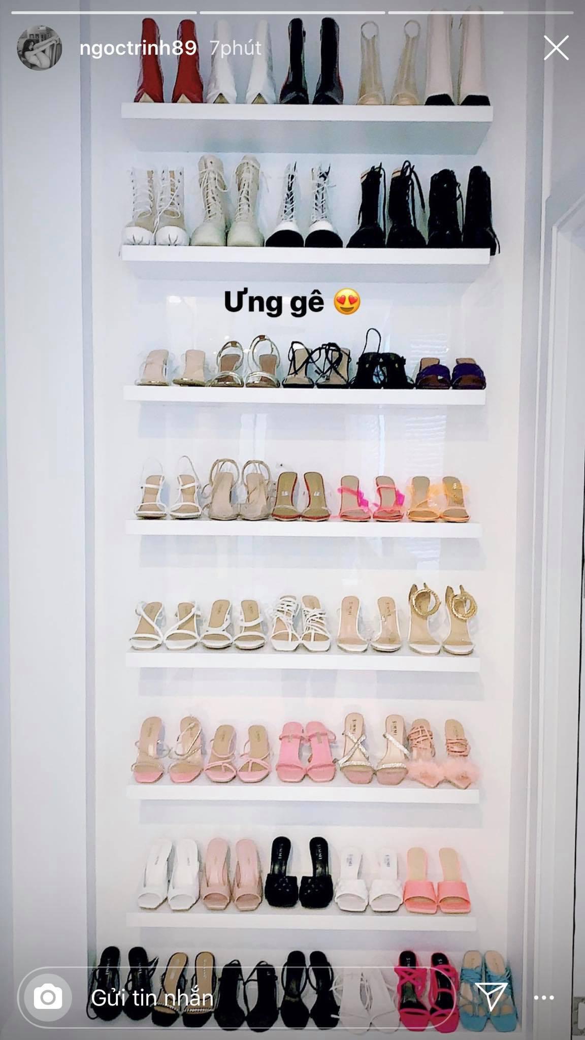 Vắng show chậu mùa dịch, Ngọc Trinh vẫn khoe thành quả mua sắm gây choáng: Sơ sơ cũng 40 đôi giày!-1
