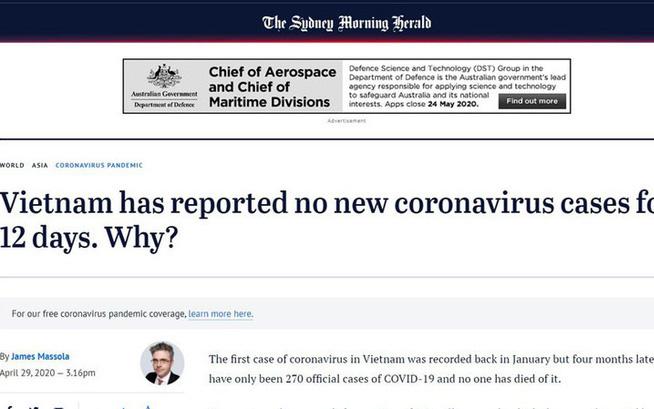Báo Úc lý giải câu chuyện phi thường của Việt Nam trong cuộc chiến chống đại dịch Covid-19