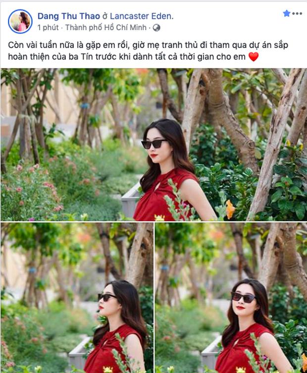 Ông xã Đặng Thu Thảo đăng ảnh vợ ở tháng cuối thai kỳ cùng con gái: Nhan sắc bà xã và lời nhắn gây chú ý-2