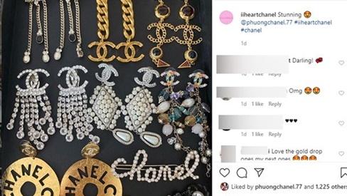 Khoe 9 đôi bông tai quý hiếm mới mua, Phượng Chanel được Instargram nước ngoài nhắc đến