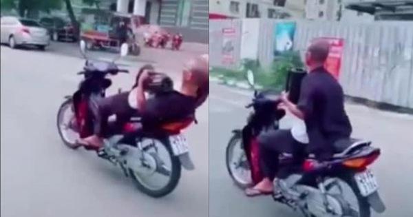 Ông già 62 tuổi buông 2 tay, phóng xe vèo vèo ở Hà Nội bị triệu tập, phạt 8,25 triệu đồng