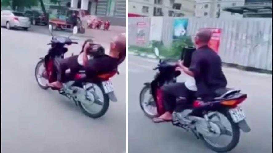 Người đàn ông 62 tuổi đi xe máy buông 2 tay bị phạt hơn 8 triệu đồng