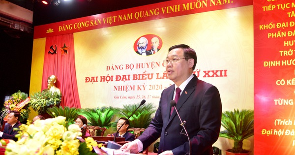 Bí thư Thành ủy Vương Đình Huệ: Phải nhận thức sâu sắc về tầm quan trọng của việc xây dựng huyện Gia Lâm thành quận