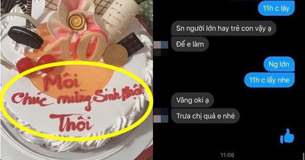 Đặt bánh sinh nhật nhưng mắc lỗi cơ bản, khách hàng