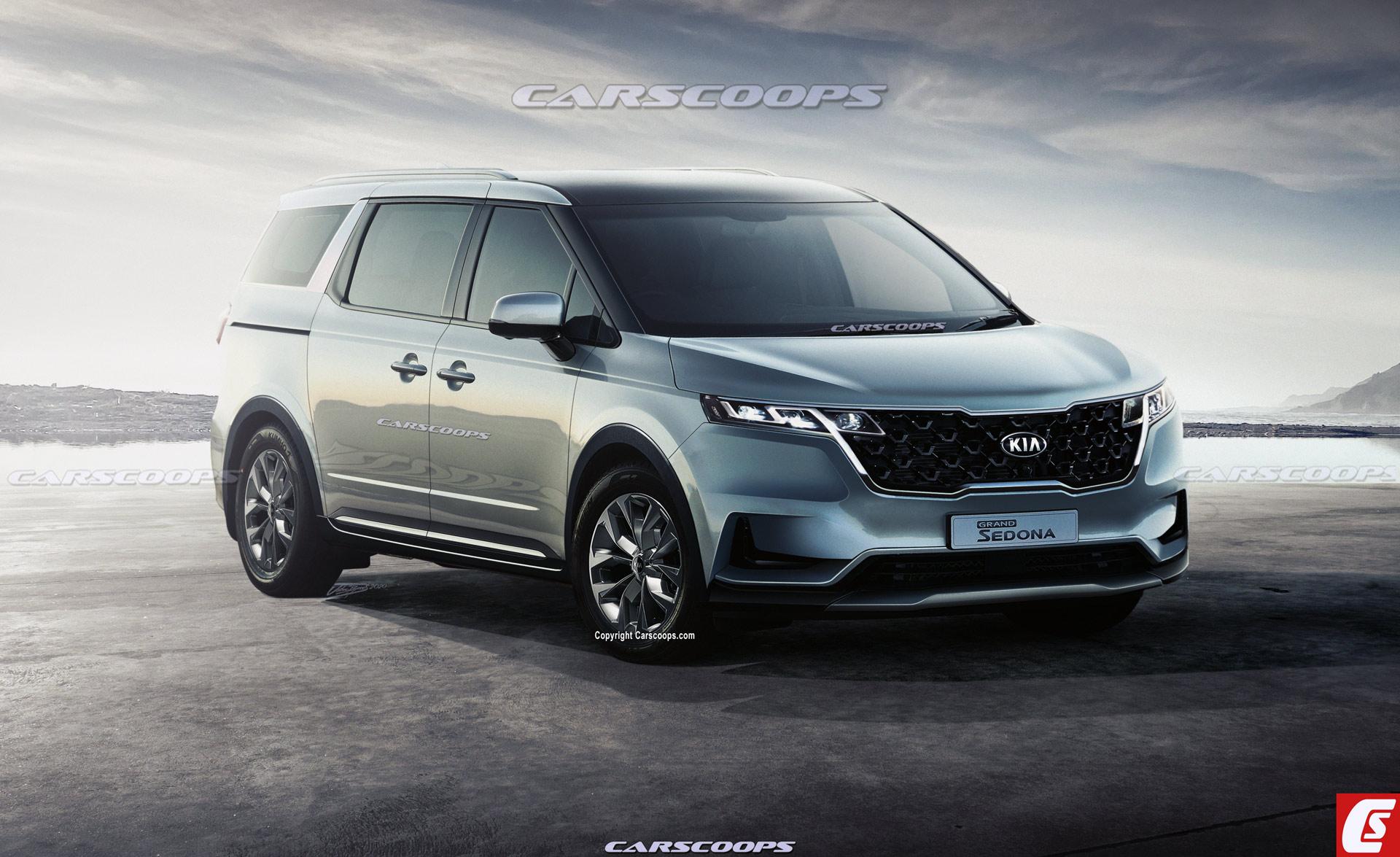 Xem trước mẫu xe MPV Kia Sedona 2021, nâng cấp thiết kế và động cơ