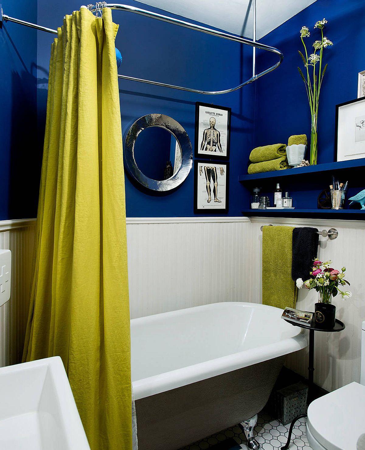 Phòng tắm mùa hè trở nên mát lịm với hai gam màu trắng - xanh-11