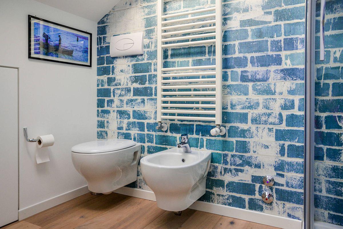 Phòng tắm mùa hè trở nên mát lịm với hai gam màu trắng - xanh-3
