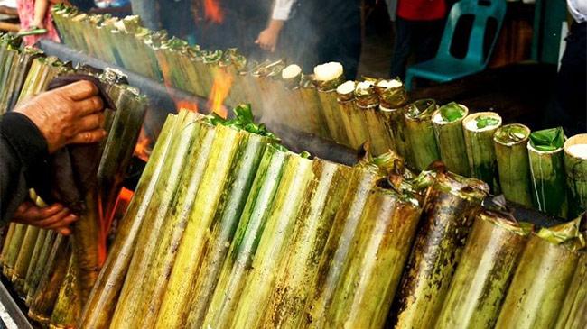 Khi đặc sản cơm lam Việt Nam được nấu theo kiểu nước ngoài