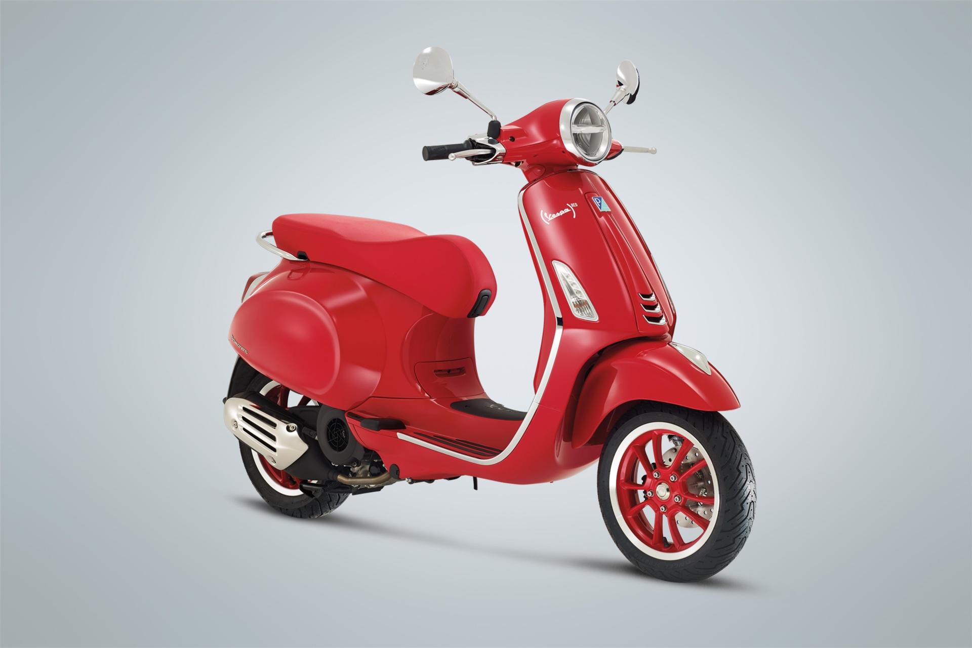 Tiếp nối 946, Vespa Primavera cũng có phiên bản RED đặc biệt